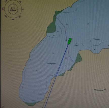C-Map view of Kjerkfjorden-Norway