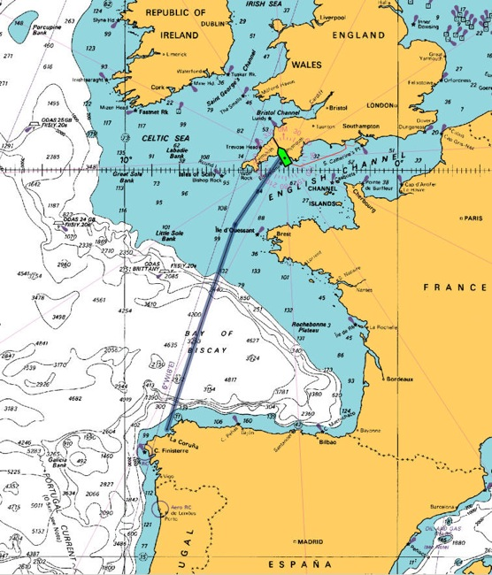 setsail fpb 187 blog archive 187 crossing biscay � easier now