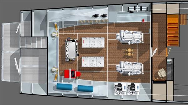 FPB 115 engine room layout