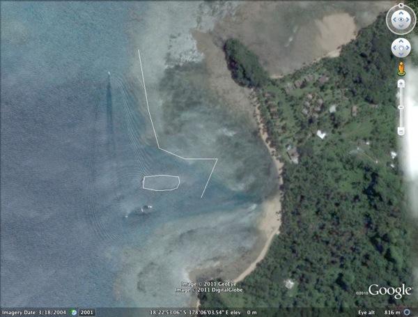 GoogleEarth Benga Reef