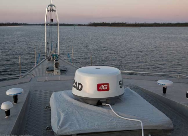 Simrad 4G BB radar test on Wind Horse 1