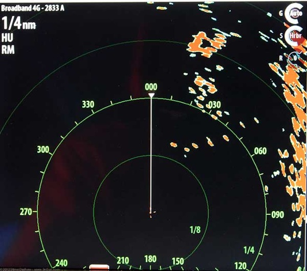 Simrad 4G BB radar test on Wind Horse 4