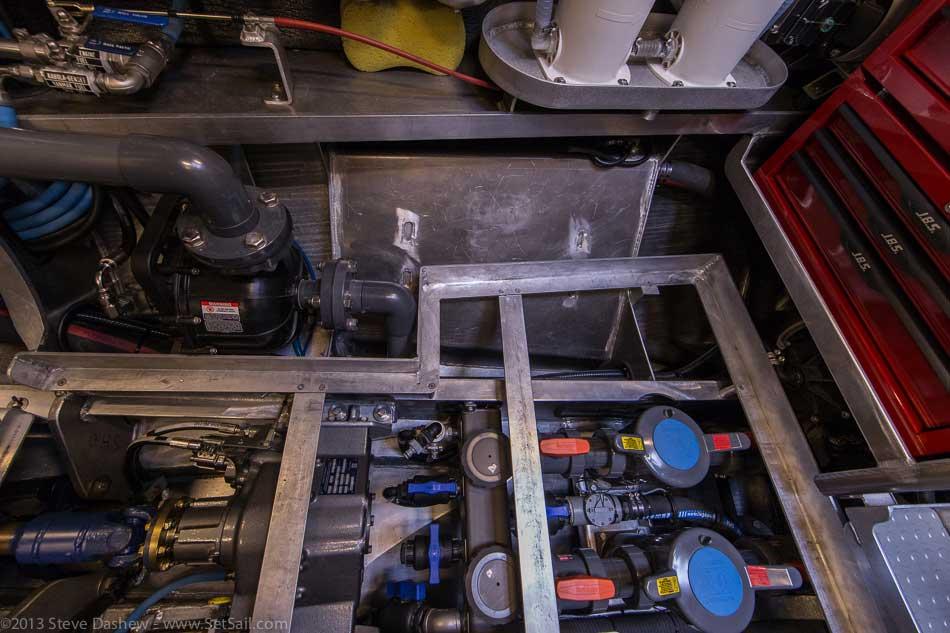 FPB 64 6 Gray Wolf Engine Room 125