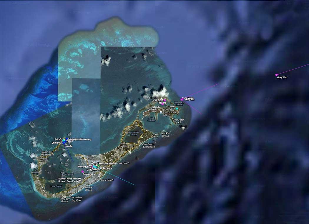 Grey Wolf leaving Bermuda